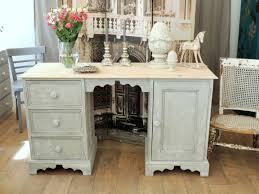 Pine Desk With Hutch Shabby Chic Solid Pine Desk With Three Drawers Eclectivo