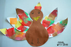 thanksgiving paper crafts tissue paper turkey craft mess for less