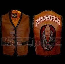 Warriors Halloween Costume Warriors Movie Leather Vest Jacket Bike Riders Halloween