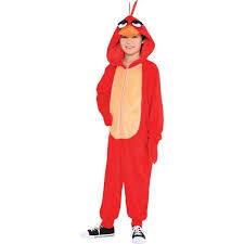 Angry Birds Halloween Costume Zipster Red Angry Bird Piece Costume Angry Birds Movie