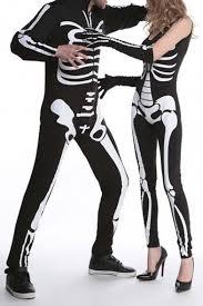 Skeleton Jumpsuit Skeleton Print Halloween Costume Party Jumpsuit