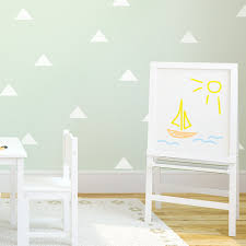 trending wall decor with geometric shapes wallums com wall decor kids room or nursery with removable triangles wall stickers wallums