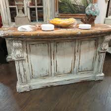 Cottage Kitchen Island by Distressed French Country Kitchen Island Bar Counter Majestic Fog