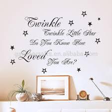 Nursery Rhyme Wall Decals Twinkle Twinkle Nursery Rhyme Wall Sticker For