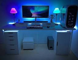 Gaming Desk Setup Catchy Gaming Computer Desk Setup Best Ideas About Gaming Desk On
