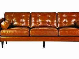 Black Leather Mid Century Sofa Catchy Mid Century Modern Leather Sofa Tufted Modern Leather