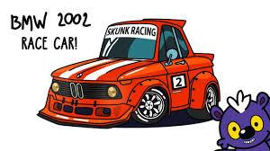 cartoon race car how to draw bmw 2002 tuned race car step by step cartoon drawing