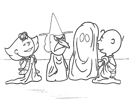 charlie brown halloween coloring pages for kids hallowen