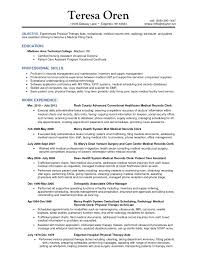 Physical Therapy Resume Examples by Scheduler Resumes Pastry Chef Objective