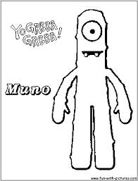 100 ideas yo gabba gabba coloring pages free emergingartspdx