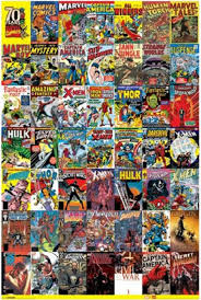 marvel wrapping paper maxi poster marvel 70th anniversary 61cm x 91 5cm 1335