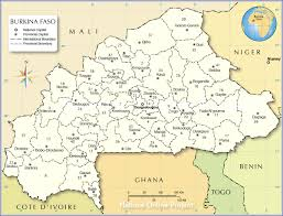Map Of Mali Administrative Map Of Burkina Faso Nations Online Project