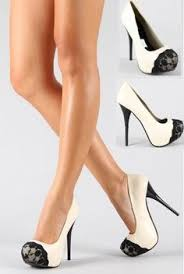black high heals with red bottoms and snake heals one of the