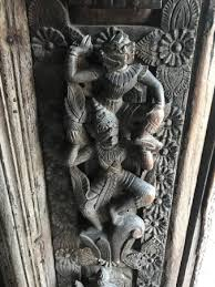 beautiful wood carving picture of golden palace monastery