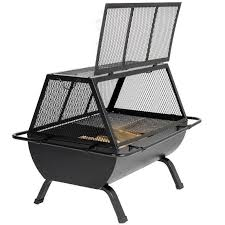 Firepit Grill Steel Pit Outdoor Cooking Grill Fireplaces Firepits