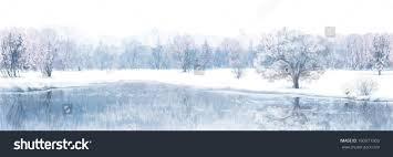 vector winter scene river forest background stock vector 160071503