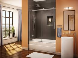 tub with glass shower door bathroom shower door