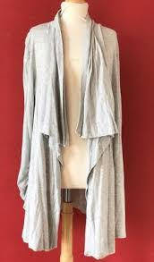 Draped Cardigan Sweater H By Bordeaux Heather Gray Drape Cardigan Sweater Size S Small New