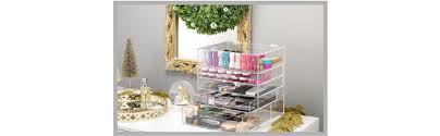 Hair And Makeup Organizer Amazon Com Whitmor 5 Tier Acrylic Cosmetic Organizer Clear Home