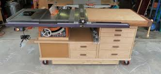 table saw workbench plans table saw work station by phil619 lumberjocks com woodworking
