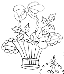 best flowerpot designs for embroidery drawing fabric printing