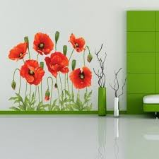 Wall Flower Decor by Mianmian Tm Beautiful Poppies Flowers Wall Stickers Mural Art