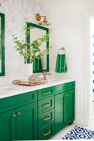 Farm Style Bathroom Vanities by This Gorgeous Green And White Bathroom Is A Preppy Dream Two