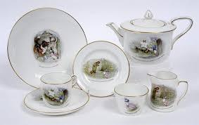 beatrix potter tea set a grimwades beatrix potter child s tea service decorated