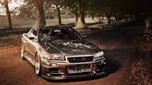 nissan skyline gtr r34 nissan skyline gtr r34 rb26dett engine sound from grid 2 video