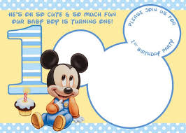 mickey mouse 1st birthday greeting card free mickey mouse 1st invitation style 1st
