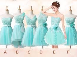 mismatched bridesmaid dress tiffany blue bridesmaid dress short