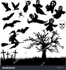 vector ghosts cemetery ghost stock vector