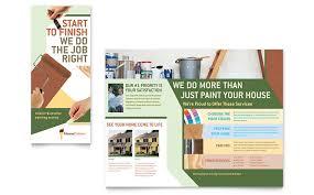 painter u0026 painting contractor brochure template word u0026 publisher