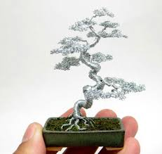 miniature wire bonsai trees by ken to colossal