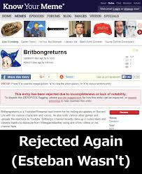 Know Your Meme Youtube - parktown progress britbongreturns rejected by know your meme again
