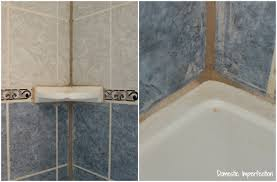 Bathroom Tile Makeover - how to refinish outdated tile yes i painted my shower