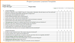 lessons learned report template 9 lessons learned template cashier resume