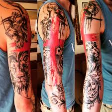 my abstract family crest sleeve so far done by johnny mac at