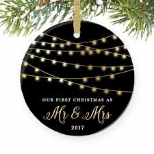amazon com first christmas as mr u0026 mrs ornament 2017 1st married