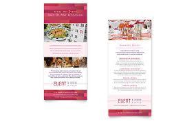 corporate event planner u0026 caterer rack card template design