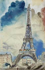 eiffel tower in watercolors paint watercolor create