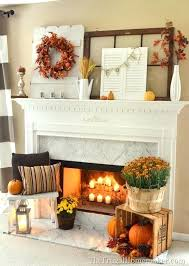 thanksgiving mantel decorating ideas decorations fireplace mantel