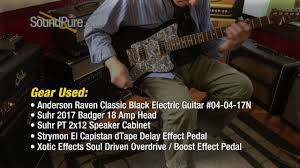 anderson raven classic black electric guitar 04 04 17n quick n