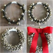 how to make a jingle bell wreath domestic imperfection