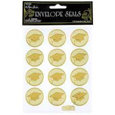 graduation cap stickers gold foil graduation cap envelope seals hobby lobby 1081959