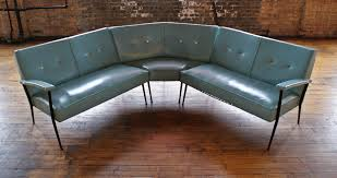 Turquoise Sectional Sofa Mcm Turquoise Vinyl Sectional Sofa W Brass Buttons U2013 Salvage One