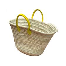 large wicker baskets with lids market basket handles yellow shopping straw bags fair trade