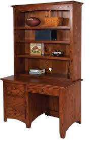 Student Desk With Hutch Office Desk Hutch Amish Shaker Youth Student Desk Hutch Black