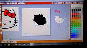 d i y hello kitty bday party invites w silhouette cameo youtube