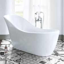 modern freestanding luxury bath designer acrylic bathroom curved
